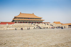 Beijing traditional buildings of the Forbidden City, in Chinese Stock Images