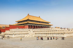 Beijing traditional buildings of the Forbidden City, in Chinese Stock Image