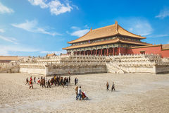 Beijing traditional buildings of the Forbidden City, in Chinese Royalty Free Stock Photos