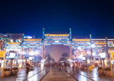 Beijing traditional decorated archway Royalty Free Stock Images
