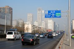 Beijing traffic Royalty Free Stock Images
