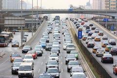 Beijing traffic jam stock images