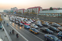Beijing traffic jam Royalty Free Stock Image