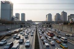 Beijing traffic jam Stock Image