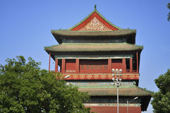 Beijing Travel ,central axis-Drum Tower Stock Photo