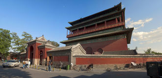 Beijing Travel ,central axis-Drum Tower Royalty Free Stock Photos