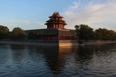 Beijing Turret traditional architecture Forbidden city Royalty Free Stock Photo