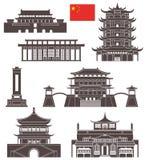 Beijing Uppsättning vektor illustrationer