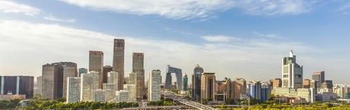 Beijing urban landscape. Overlooking the Beijing business district Royalty Free Stock Images