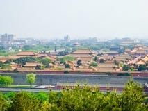 Beijing& x27; vista di s la Città proibita Immagini Stock Libere da Diritti