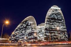 Beijing wangjing soho night scene Royalty Free Stock Photography
