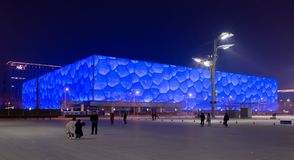 Beijing Water Cube stock photography