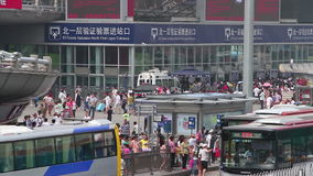 Beijing west railway station at daytime. HD Stock Image
