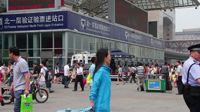 Beijing west railway station at daytime. HD Stock Photo