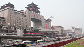 Beijing west railway station at daytime. HD Royalty Free Stock Photos