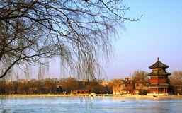 Beijing in winter royalty free stock photos