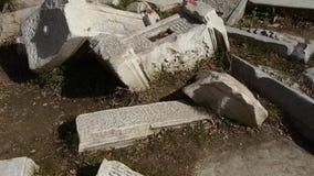 Beijing yuanmingyuan history legacy wreckage,Broken stones carving. This is beijing yuanmingyuan history legacy wreckage,Broken stones carving stock video footage