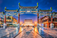 Beijing Zhengyang Gate Jianlou In Qianmen Street In Beijing City Stock Photos