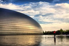 BEIJING futuristic National Center for the Performing Arts Royalty Free Stock Image