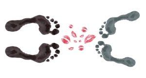 Beijo ilustração stock