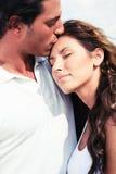 Beijo afectuoso do homem Imagem de Stock