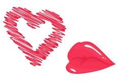 Beijo apaixonado do ar Imagens de Stock