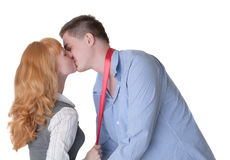 Beijo cega fotos de stock