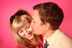 Beijo cor-de-rosa Fotos de Stock