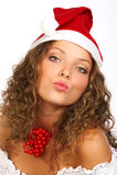 Beijo de Christmass Fotos de Stock Royalty Free