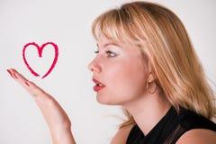 Beijo do amor Fotografia de Stock