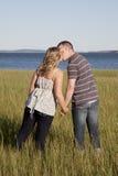 Beijo do beira-rio Foto de Stock Royalty Free