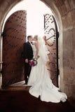 Beijo do casamento Fotos de Stock