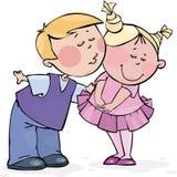Beijo do Valentim Foto de Stock Royalty Free