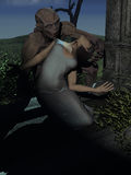 Beijo do vampiro Fotografia de Stock