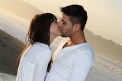 Beijo dos amantes Foto de Stock Royalty Free