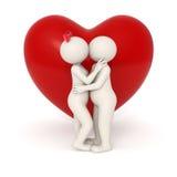 beijo dos amantes 3d Fotos de Stock