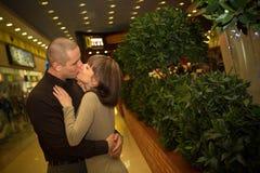 Beijo dos amantes Foto de Stock
