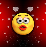 Beijo dos desenhos animados do amor Fotografia de Stock Royalty Free