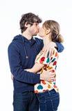 Beijo dos pares Foto de Stock