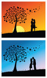 Beijo dos pares ilustração stock