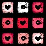 Beijo e um coração Imagem de Stock Royalty Free