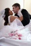 Beijo esperado desde há muito tempo Imagens de Stock