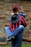 Beijo impertinente da vaqueira fotografia de stock