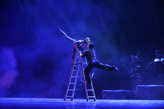 Beijo na identidade da escada- do drama da dança do mistério-tango Imagem de Stock