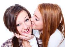 Beijo para meu melhor amigo Foto de Stock Royalty Free