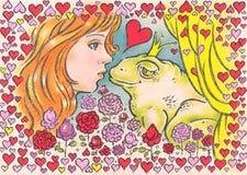 Beijo para o príncipe Imagem de Stock Royalty Free