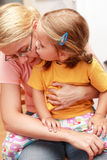 Beijo para uma mamã fotos de stock