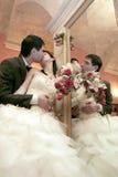 Beijo refletido Foto de Stock