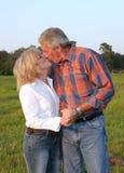 Beijo romântico Imagens de Stock