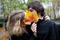 Beijo secreto Fotografia de Stock Royalty Free